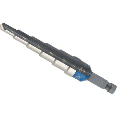 Irwin Unibit 3/16 In. - 1/2 In. #2 Step Drill Bit, 6 Steps