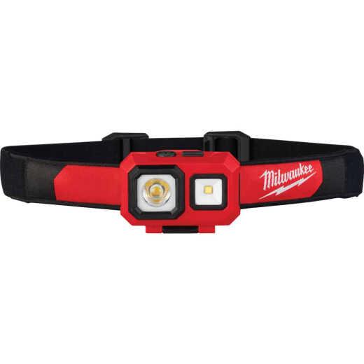Milwaukee TrueView 450 Lm. LED Spot/Flood Headlamp, Red & Black