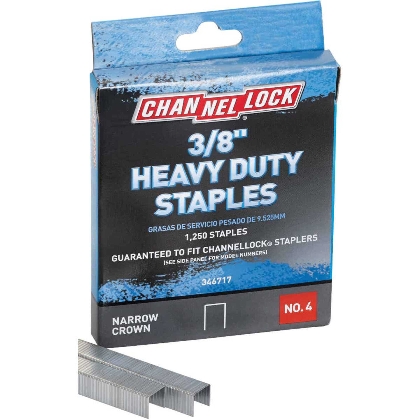 Channellock No. 4 Heavy-Duty Narrow Crown Staple, 3/8 In. (1250-Pack) Image 3