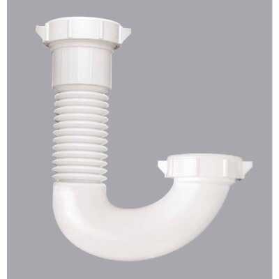 Do it 1-1/4 In. x 1-1/2 In. White Plastic J-Bend