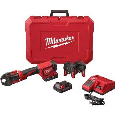 Milwaukee M12 12 Volt Force Logic Lithium-Ion Cordless Press Tool Kit (3 Jaws Included)