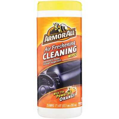 Armor All Orange Air Freshening 7 In. x 8 In. Multi-Purpose Wipes (25-Count)