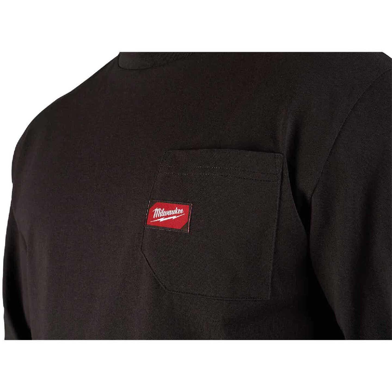 Milwaukee Small Black Long Sleeve Men's Heavy-Duty Pocket Shirt Image 4