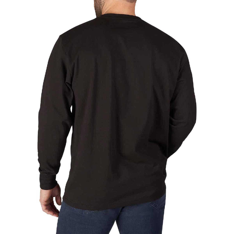 Milwaukee Small Black Long Sleeve Men's Heavy-Duty Pocket Shirt Image 5