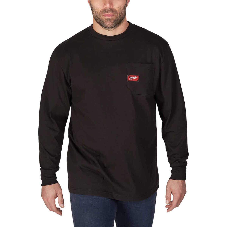 Milwaukee Small Black Long Sleeve Men's Heavy-Duty Pocket Shirt Image 1