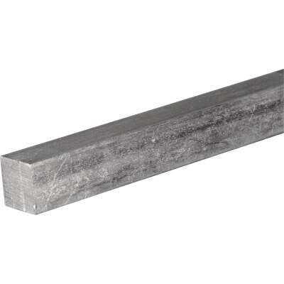 HILLMAN Steelworks 2 In. x 1 Ft. Zinc-Plated Steel Solid Square Key Stock