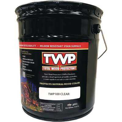 TWP100 Pro Series Semi-Transparent Wood Protectant Deck Stain, Clear, 5 Gal.