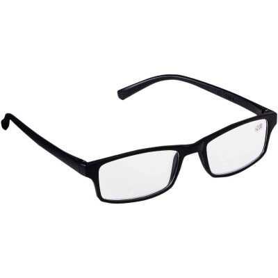 Regent 2.0 Diopter Rectangular Black Plastic Frame Reading Glasses