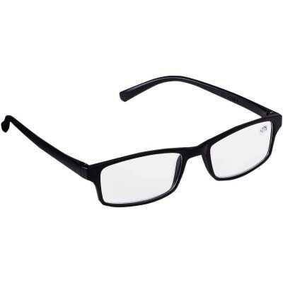 Regent 2.75 Diopter Rectangular Black Plastic Frame Reading Glasses
